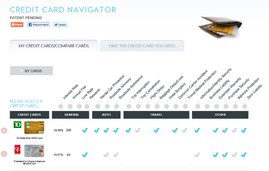 Insureeye Offers A Useful Credit Card Navigator Canadian